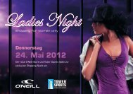 Flyer Ladies Night 2012 (PDF) - Tower Sports AG