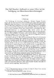 Bank: Der Fall Pinochet - Zeitschrift für ausländisches öffentliches ...