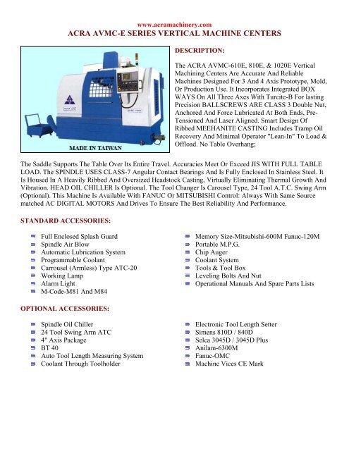 ACRA 1600 GN PRECISION ENGINE LATHE - acra machinery inc