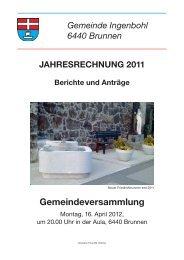 Rechnung 2011 - Brunnen