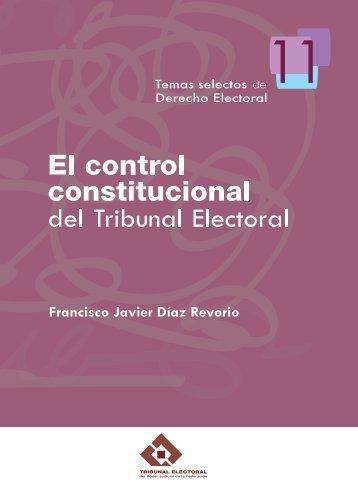 El control constitucional del Tribunal Electoral (2010)
