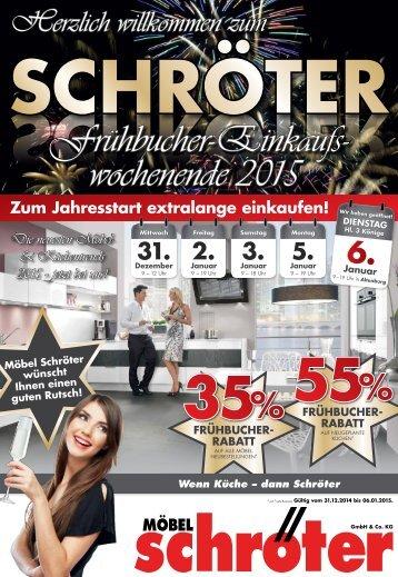 Moebel Schroeter Einleger Fruehbucher Wochen
