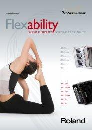 DIGITAL FLEXIBILITY FOR YOUR MUSIC ABILITY
