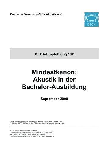 DEGA_Empfehlung_102.pdf - Deutsche Gesellschaft für Akustik eV