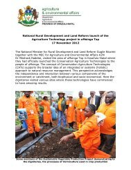 National Rural Development and Land Reform launch of the ...