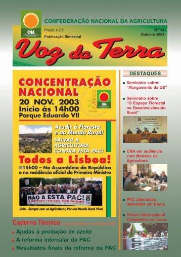 Voz da Terra, Outubro de 2003 - CNA
