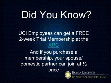 Did You Know? - UCI Human Resources