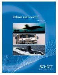 Defense and Security - SCHOTT North America