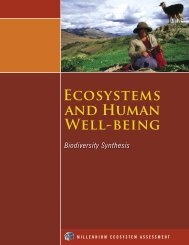 Ecosystems and Human Well-Being: Biodiversity Synthesis - UNEP