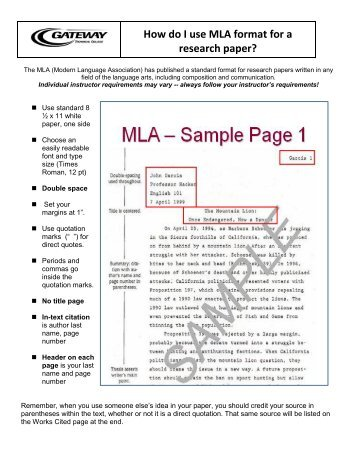 parts of a research paper mla style Why outline oultines provide a means of organizing your information in an  hierarchical or logical order for research papers, a formal outline.