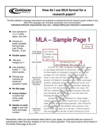 do mla research paper Mla documentation sample mla paper 27c sample research paper-mla checklist 272 formatting the title page do not insert extra spaces dent in english.