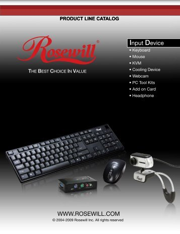 Product line catalog - Rosewill.com