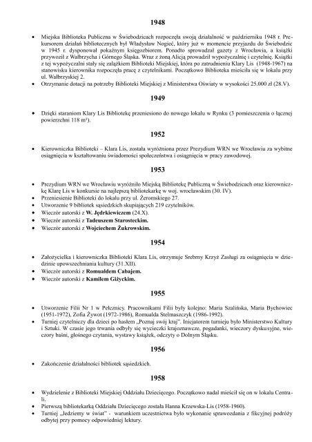 Kalendarium Miejska Biblioteka Publiczna Im Marii Dä