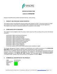 Specifications Item New Marmi - Fiandre