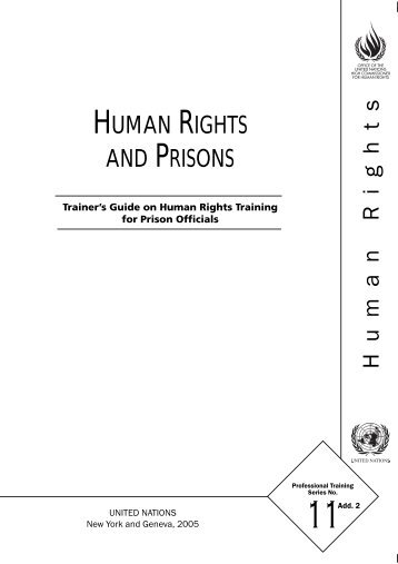 A Trainer's Guide on Human Rights Training for Prisoner's Officials