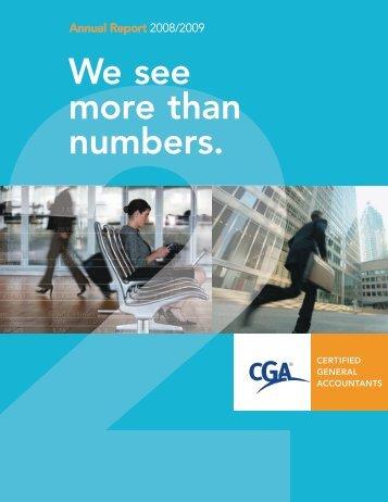 We see more than numbers. - Certified General Accountants of Ontario