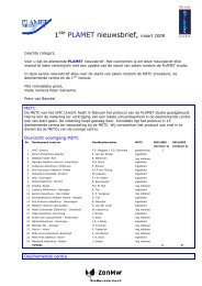 1ste PLAMET nieuwsbrief, maart 2008 - Utrecht Digestive Center