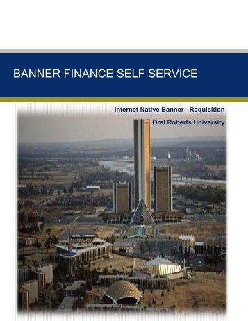 BANNER FINANCE SELF SERVICE - Oral Roberts University