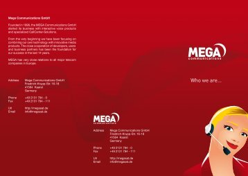Download our flyer here. - Mega Communications GmbH