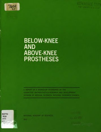 Below-knee and above-knee prostheses
