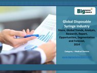 Disposable Syringe Industry Research Report,Global,Size,Trends 2014