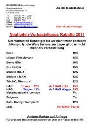 Schweizer Neuheiten Spur N 2011 - bei Roundhouse ...