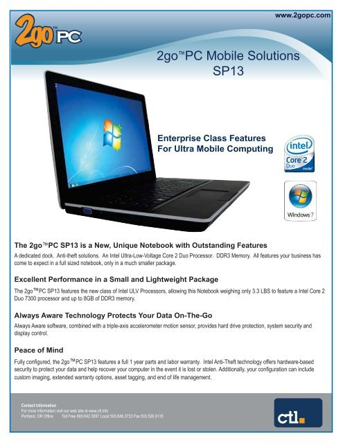 2go™PC Mobile Solutions SP13 - CTL