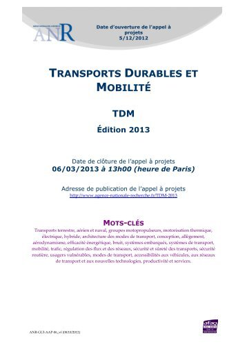 TRANSPORTS DURABLES ET MOBILITÉ - Syntec ingenierie