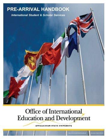pre-arrival handbook - International Education and Development ...