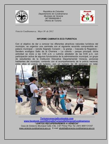 informe caminata ecoturistica 30/05/12 - Venecia Cundinamarca