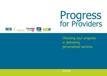 Progress for Providers - National Disability Services