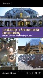 Leadership in Environmental Sustainability - BCA Academy
