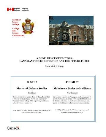 link - Collège des Forces canadiennes - Ministère de la défense ...