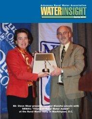 WATERINSIGHTSpring 2010 - Arkansas Rural Water Association