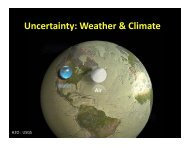 Uncertainty: Weather & Climate - Rutgers Climate and ...