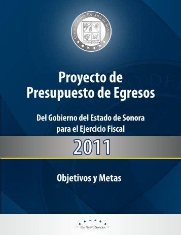 Metas y Recursos - H. Congreso del Estado de Sonora