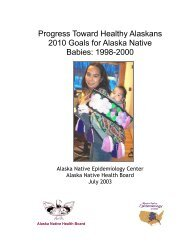 Progress Toward Healthy Alaskans 2010 Goals for Alaska ... - ANTHC