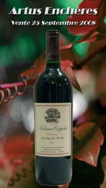 conservation et vieillissement des vins - artus Enchères