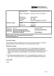 Bebauungsplan 1190 - Drucksache ... - Stadt Wuppertal