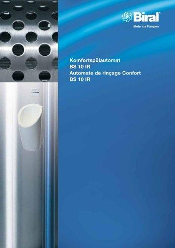 Komfortspülautomat BS 10 IR Automate de rinçage Confort ... - Biral