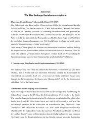 Wie Mao Zedongs Sozialismus scheiterte - Rote Ruhr Uni