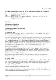 WEST side 1 af 2 13. december 2002 Referat af bestyrelsesmøde i ...