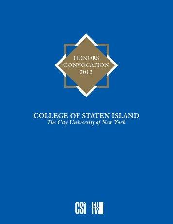 COLLEGE OF STATEN ISLAND - CSI Today