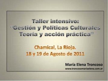 Gestión Cultural Chamical · Descargar PDF - Maria Elena Troncoso