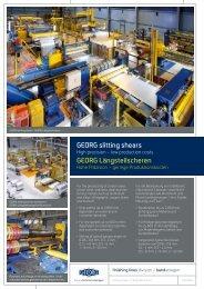 Längsteilscheren - Heinrich Georg GmbH Maschinenfabrik