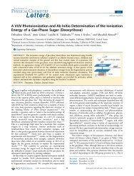 A VUV Photoionization and Ab Initio Determination of the Ionization ...