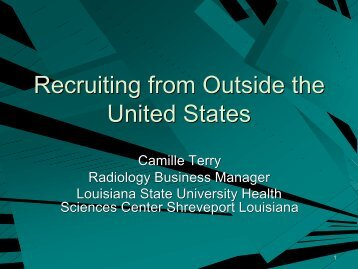Recruiting from Outside the United States - Aaarad.org