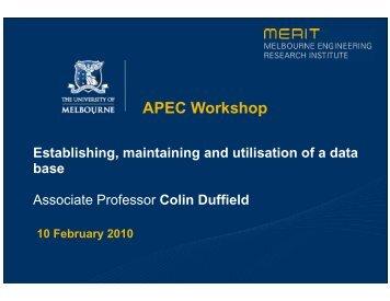 Colin Duffield - Australian APEC Study Centre