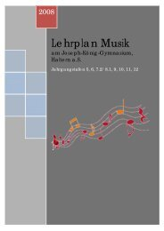 Lehrplan Musik - Joseph-König-Gymnasium