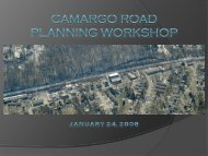 Camargo road planning workshop january 24, 2008 - Hamilton ...